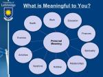 what is meaningful to you