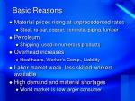basic reasons