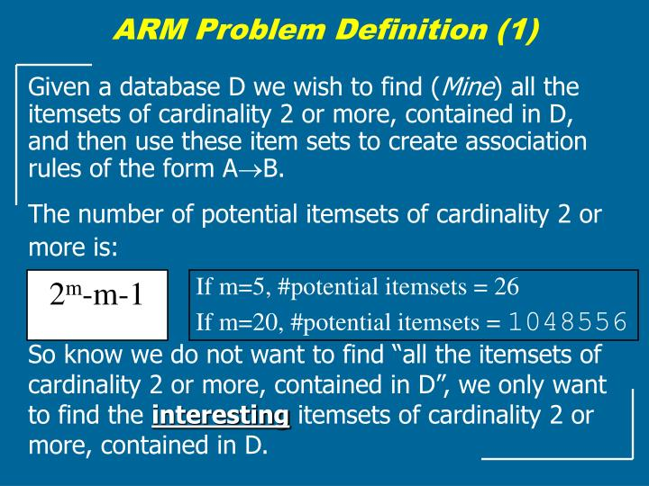ARM Problem Definition (1)