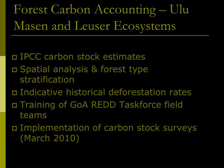 Forest Carbon Accounting