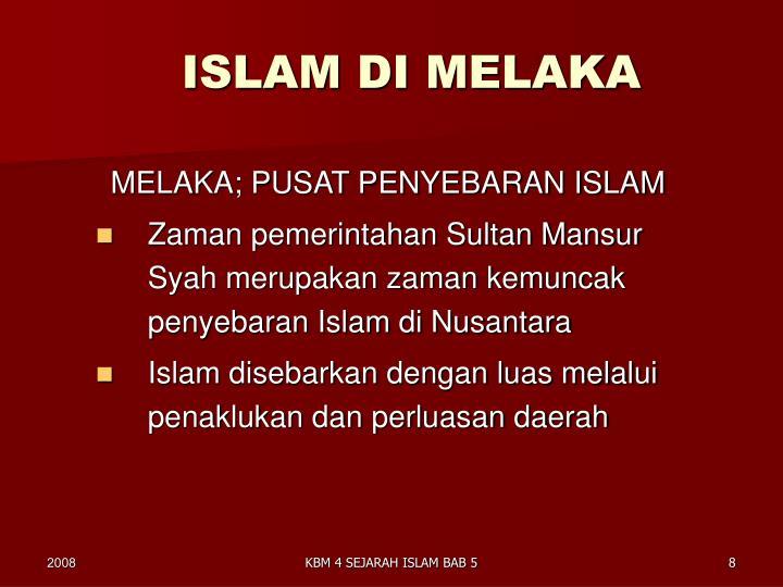 ISLAM DI MELAKA