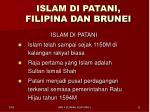 islam di patani filipina dan brunei