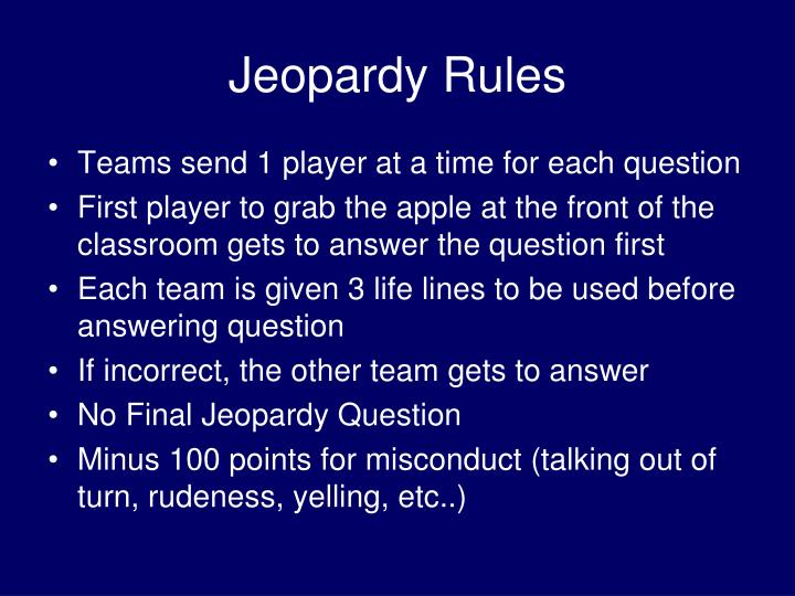 jeopardy rules n.