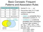 basic concepts frequent patterns and association rules