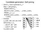 candidate generation self joining