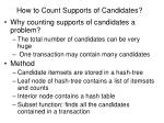 how to count supports of candidates