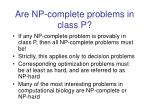 are np complete problems in class p