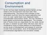 consumption and environment
