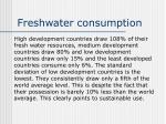 freshwater consumption
