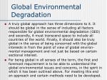 global environmental degradation