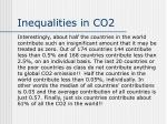 inequalities in co2