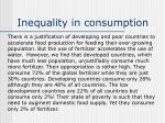inequality in consumption