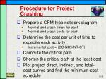 procedure for project crashing