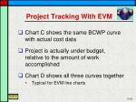 project tracking with evm1