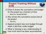 project tracking without evm