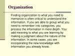organization