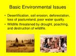 basic environmental issues