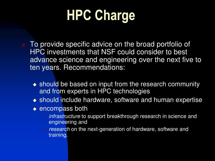 HPC Charge