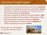 commdev funded projects