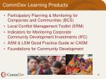 commdev learning products