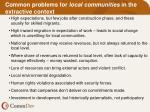 common problems for local communities in the extractive context