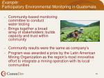 example participatory environmental monitoring in guatemala