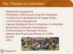 key themes for commdev
