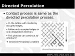 directed percolation