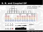 s r and coupled dp