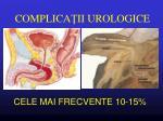 complica ii urologice