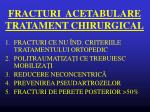 fracturi acetabulare tratament chirurgical
