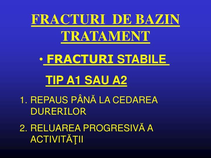 FRACTURI  DE BAZIN TRATAMENT