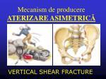 mecanism de producere aterizare asimetric