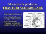 mecanism de producere fracturi acetabulare