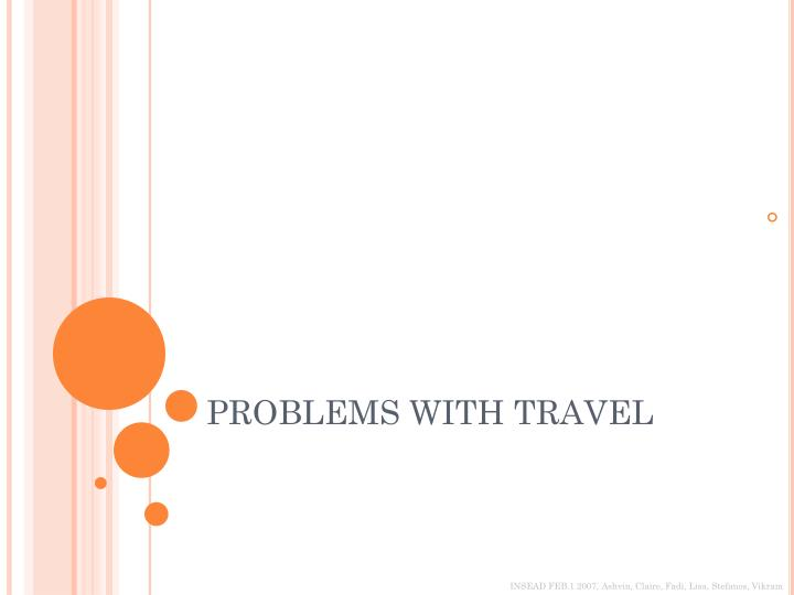 problems with travel n.