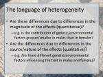 the language of heterogeneity
