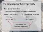 the language of heterogeneity5