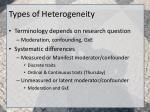 types of heterogeneity