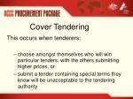 cover tendering