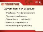 government risk exposure