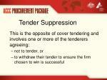 tender suppression