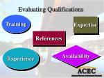 evaluating qualifications