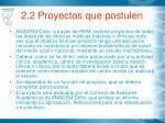 2 2 proyectos que postulen
