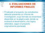4 evaluaciones de informes finales