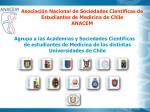 asociaci n nacional de sociedades cient ficas de estudiantes de medicina de chile anacem
