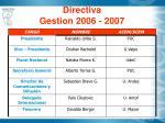 directiva gestion 2006 2007