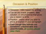 occasion position