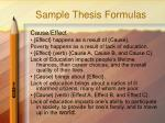 sample thesis formulas1