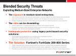 blended security threats exploiting medium sized enterprise networks
