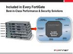 included in every fortigate best in class performance security solutions